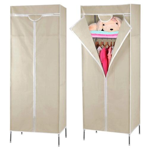 Canvas Storage Boxes For Wardrobes: Beyondfashion SINGLE CANVAS WARDROBE RAIL CLOTHES STORAGE