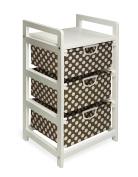 Badger Basket Lightweight Three Drawer Hamper/Storage Unit, Brown Dot