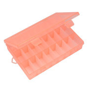 Paialco Plastic Clear Jewellery Tray 24 Compartment Slot Adjustable Pink
