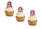 24 EDIBLE SOFIA THE FIRST WAFER CARD STAND UPS UNCUT CUPCAKE TOPPERS