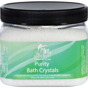 White Egret Purity Bath Crystals with Essential Oils-470ml Container