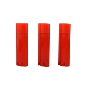 4.5g Plastic Empty Oval White Containers Small Sample Tubes Plastic Lip Balm Tubes Lipstick Tube Pack of 10