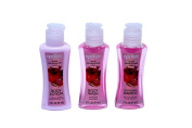 Bath & Shower 3 Piece Travel Set Apple Pomegranate Scent By April