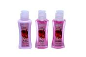 Bath & Shower 3 Piece Travel Set Apple Pomegranate Scent By April
