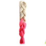 Abwin Blonde to Peach Pink Twist Hair Extension