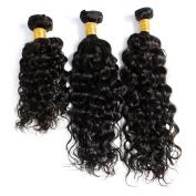 BeiHong Hair Top Quality Brazilian Virgin Human Hair Extensions Deep Curly Wave 3 Bundles Human Hair Weave Total 300g (16 18 20, #1B