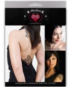 BlacJack Removable Body Art Leopard Spot Tattoo Pack - 5 Leopard Spot Tattoos per Pack