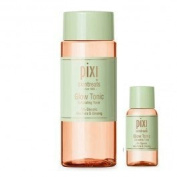 Pixi Glow Tonic with Aloe Vera and Ginseng- 100ml- and 15ml Travel Size Mini Pixi Toner