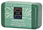 One With Nature Peppermint Dead Sea Mineral Soap, 210ml Bar by One With Nature