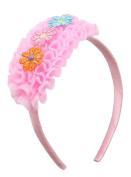 EOZY Girls Mesh Pink Lace Flower Princess Hair Hoop Headband