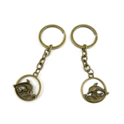 10 PCS Keyrings Keychains Key Ring Chains Tags Jewellery Findings Clasps Buckles Supplies Z8RQ2 Dolphin
