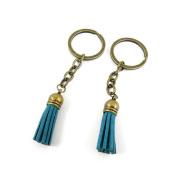 1 PCS Keyrings Keychains Key Ring Chains Tags Jewellery Findings Clasps Buckles Supplies Q8KS3 Steel Blue Tassels