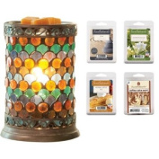 Scentsationals Peacock Mosaic Wax Warmer Gift Set