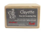 Chavant CLAYETTE Medium - 0.9kg. Professional Oil Based Sulphur Free Sculpting Clay - GREY