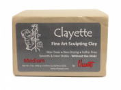 Chavant CLAYETTE Medium - 0.9kg. Professional Oil Based Sulphur Free Sculpting Clay - GREY