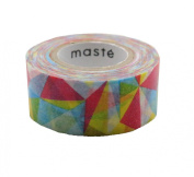 Japanese Maste Mark's Washi Masking Deco Tape Standard Colourful Triangle Edition