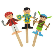 DIY Foam Character Stick Puppets - Storytime Legends