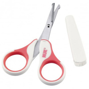 NUK Baby Nail Scissors Safe with Cover Round Ends - Pink Excellent Gift