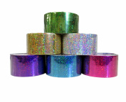 6 Colour Holographic Duct Style Tape Set