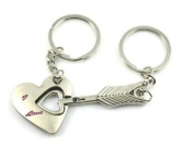 Lover Couple Keychain Heart Key Keychains love kiss Cute Forever kids Valentine