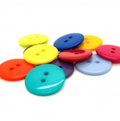 TOPWEL 9mm/10mm Mixed Colour Resin Buttons 2 Holes Round Small DIY Sewing Buttons