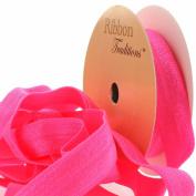 1.6cm Fold Over Elastic Neon Pink 3 Yard