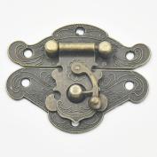 Bluemoona 5 Pcs - Latch Hook Lock Catch Trunk Decorative Jewellery Gift Wooden Box Hasp With Screws 65mmx52mm