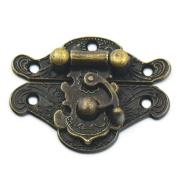 Bluemoona 10 Pcs - Latch Hook Lock Catch Trunk Decorative Jewellery Gift Wooden Box Hasp With Screws 38mmx29mm