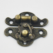 Bluemoona 10 Pcs - Latch Hook Lock Catch Trunk Decorative Jewellery Gift Wooden Box Hasp With Screws