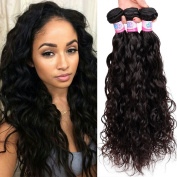 Mike & Mary® Best 6A Virgin Brazilian Hair Natural Wave 3 Bundles Lot Unprocessed Natural Colour Hair Weaves