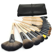 Premium Synthetic Kabuki Makeup Brush Set Cosmetics Foundation Blending Blush Eyeliner Face Powder Brush Makeup Brush Kit 24pcs