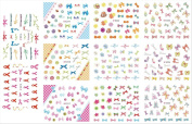KADS 3D Nail Art Bow Tie Sticker DIY Decoration - 1 Pack 11 design