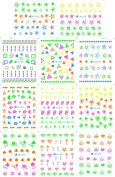 KADS Fluorescent water paste Water transfer printing nail sticker decals Crow heart cross