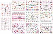 KADS 3D Nail Decals Tip Nail Art Sticker Mix Colour Self-adhesive Flower Decal Decoration-1 Pack 11 design