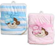 80cm X 80cm Little Mimos Newborn Pink Baby Blanket