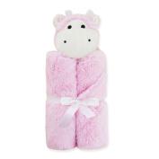 La moriposa Cartoon Design Baby Blankets- Pink Hippo