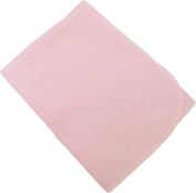 Iddy Kiddy Baby Fleece Blanket - Made in the USA. B1007 Pink