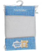 "Snugly Baby ""Solid Colour"" Crib Sheet - white, one size"