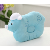 Organic Cotton Baby Protective Pillow Blue Cloud Lamb Sleeping Pillow From Newborn