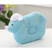 Organic Cotton Baby Protective Pillow Blue Cloud Lamb Sleeping Pillow From Newborn