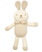 (Lovely Lace Rabbit)100% Organic Cotton Baby First Doll Lovely Lace Rabbit 30cm