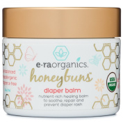 Honeybuns Nappy Rash Cream 60ml USDA Certified Organic Soothing Nappy Rash Treatment for Sensitive Skin. Natural Ointment to Nourish and Protect from Moisture, Infection, Chaffing and Irritation.