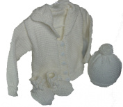 Handmade Knit Sweater Set Size Newborn - 6 Months