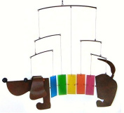 Blue Handworks Rainbow Dachsie Mobile BLUEG478 by Gift Essentials