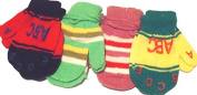 Set of Four Pairs Magic Mittens for Infants Ages 6-24 Months