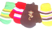 Set of Four Pairs Stretch Magic Mittens for Infants Toddlers Ages 6-24 Months