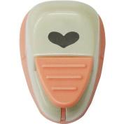 Kuretake Paper Punch Kurepunsh Small Light Pink Body, Funky Heart Shape
