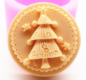 Creativemoldstore 1pcs Christmas Tree (C422) Craft Art Silicone Soap Mould Craft Moulds DIY Handmade Soap Mould