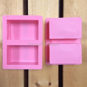 2 Cavity Rectangle Rectangular Silicone Mould Bakeware Baking Cake Chocolate Brownie Candy Bar Soap Making Mould Tray Homemade Food Craft DIY