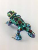 TINY CRYSTAL chameleon HAND BLOWN CLEAR GLASS ART chameleon FIGURINE ANIMALS COLLECTION GLASS BLOWN 02